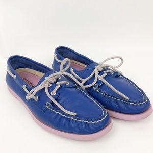 Sperry Topsiders Blue & Pink Size 9